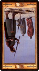 Пятерка мечей перевернутая