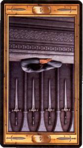Четверка мечей перевернутая
